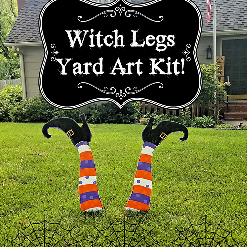 Witch legs yard art kit