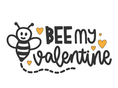 Bee My Valentine Mini Sign