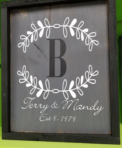 personalized family sign