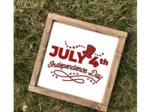 Independence Day Fourth of July Decor- med sign