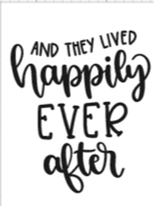 And they lived happily ever after medium sign
