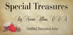 special treasures sign with roses - clea