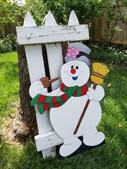 Frosty Yard Art
