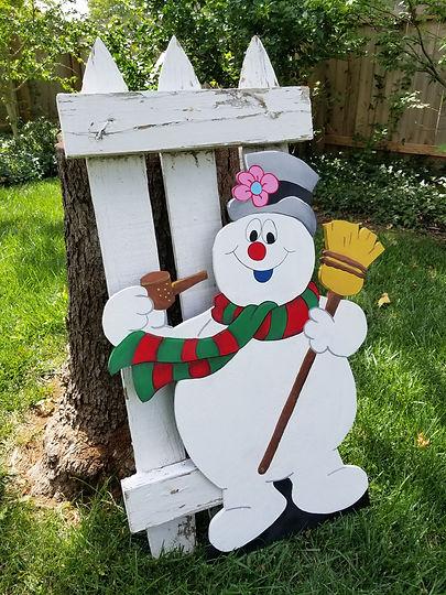 Frosty Yard Art