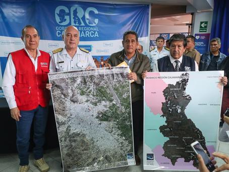 Agencia Espacial del Perú entrega mosaico de zonas vulnerables a Región Cajamarca