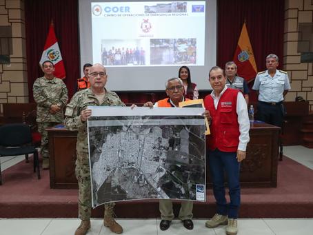 Agencia Espacial del Perú entrega información satelital a Región Lambayeque