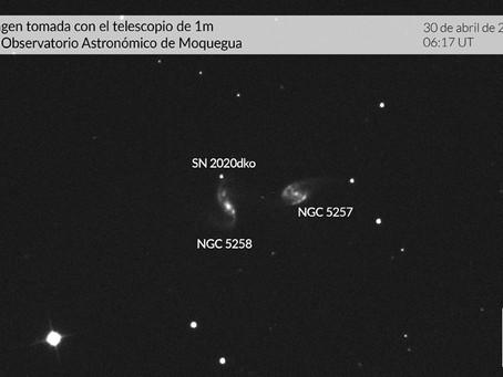 Supernova SN2020dko es estudiada desde Observatorio Astronómico de Moquegua