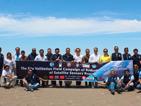 Instituciones peruanas realizan calibración radiométrica de satélites en Ica