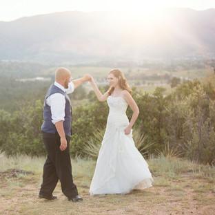 Wedding dance in the Colorado Mountains