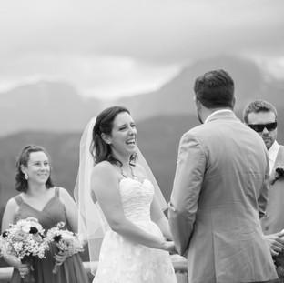 Happy Mountain Bride