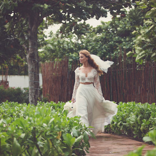 Bride at Destination Wedding