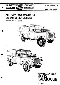 Defender 110 Military Supplement Parts C