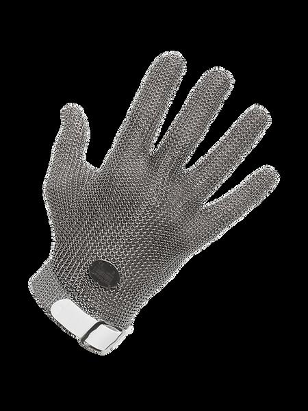 meshFlex® STECHSCHUTZHANDSCHUH (Edelstahlringgeflecht) meshFlex® - mit auswechselbarem Kunststoffband und detektierbarem Edelstahlringgeflecht