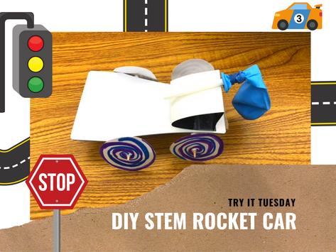 DIY STEM Rocket Car - Try it Tuesday