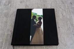Italian 14x14 Suede Cover with Image  Album