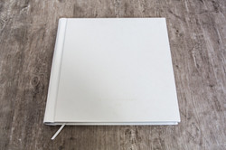 Italian White 14x14 Leather Embossed Cover