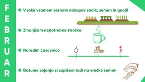 Eko vrt, sadovnjak - delo februar