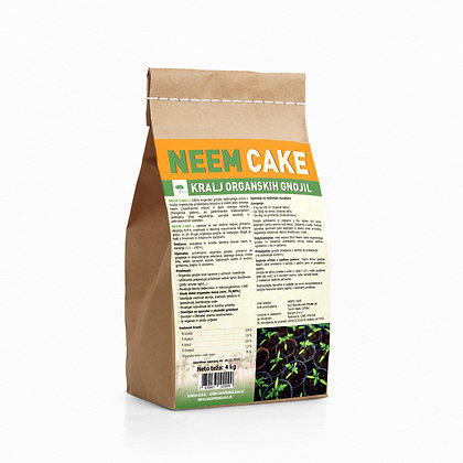 NEEM cake 4 kg - 100% naravno organsko talno gnojilo