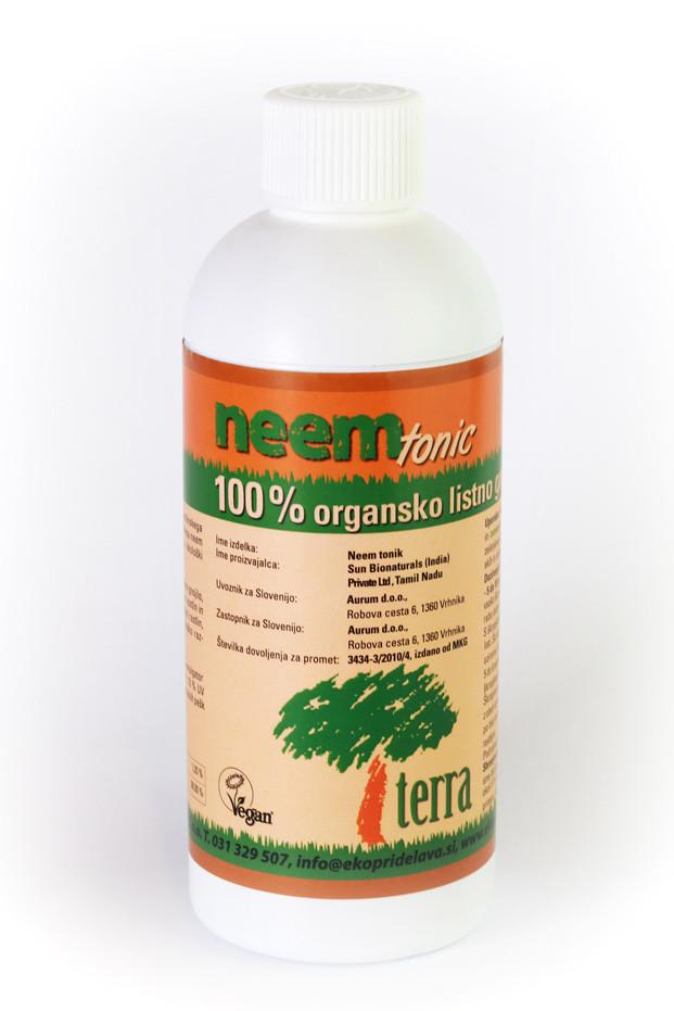 Neem tonic - neem olje brez karence pripravljeno posebej za vrtičkarje