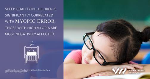 Myopia and Poor Sleep Connected in Children