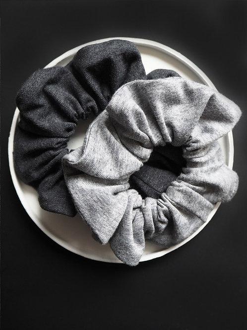 Scrunchie aus Jersey von börd shört | grau meliert | 2 Farben