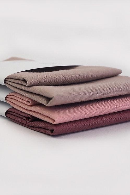2 Stofftaschentücher aus Bio-Baumwolle | verschiedene rosatöne