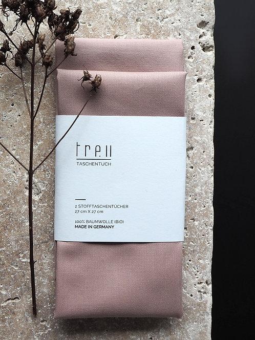 2 Stofftaschentücher aus Bio-Baumwolle | altrosa