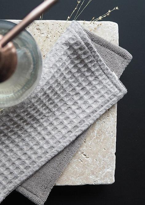 2 Spül- und Reinigungslappen aus Waffelpique & Frottee | asche & asche