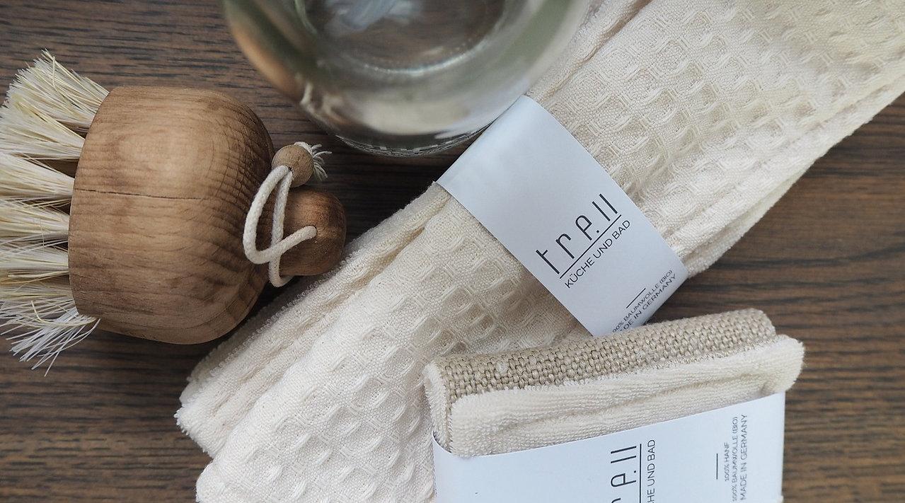 Spüllappen und Spülschwämme aus Biobaumwolle und Hanf - made in Germany - treu fashion