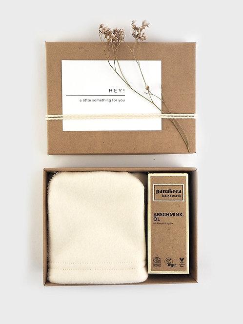 Geschenkverpackung für Abschminkhandschuhe