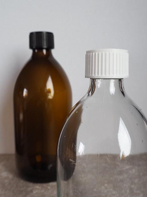 Glasflasche mit Verschluss   500 ml