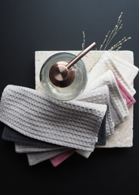 2 Spül- und Reinigungslappen aus Waffelpique & Frottee   mix & match