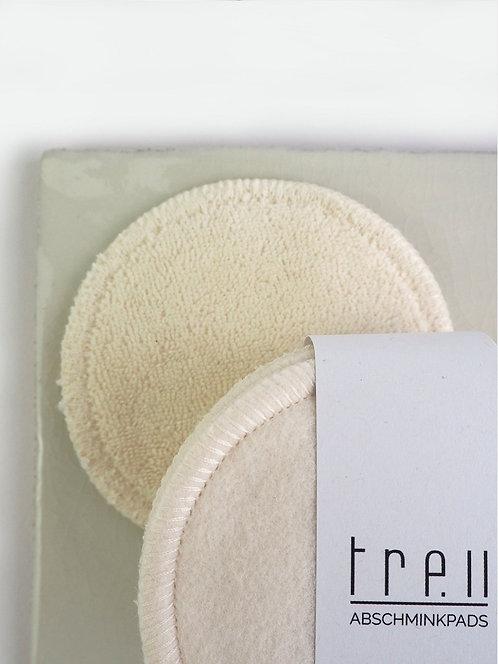10 waschbare BIO-Abschminkpads  Fleece & Frottee | ecru