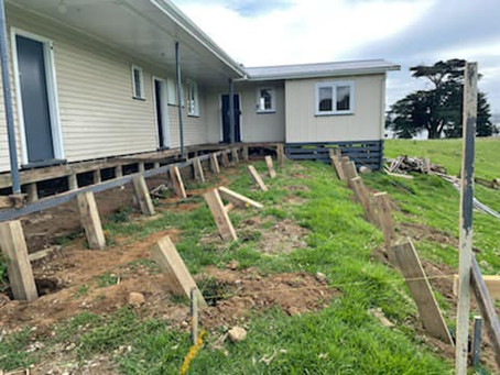 Major renovations underway for farm accommodation