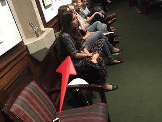 Woman Hogs Seat With Cell Phone At Speaking Event in NYC