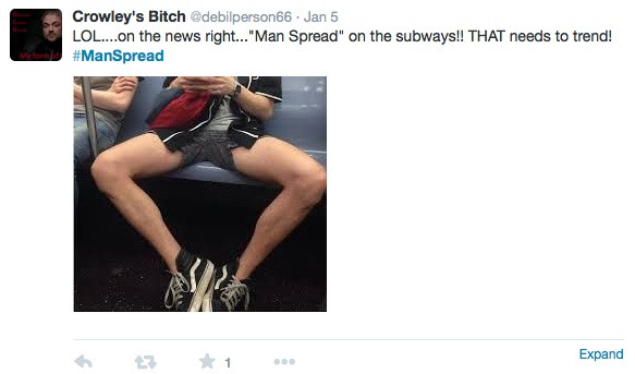Twitter Example of manspreading 7