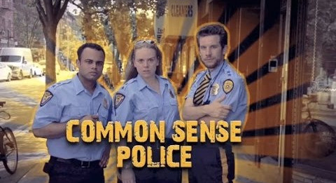 Buddy, Fritz, and Cheese of the Common Sense Police looking tough and ready to pounce on common sense offenders