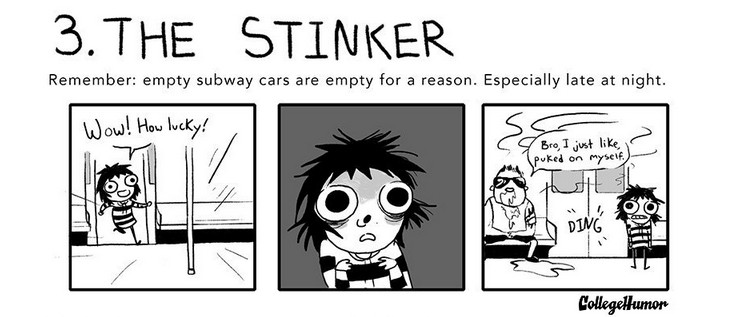 The 7 Weirdos You'll See on Public Transportation, #3 The Stinker