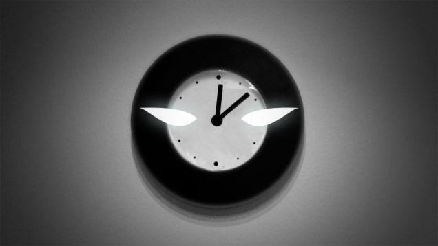 chronically late clock on wall