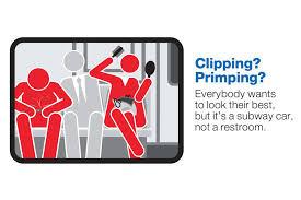 MTA Courtesy Counts Campaign; Clipping? Primping?