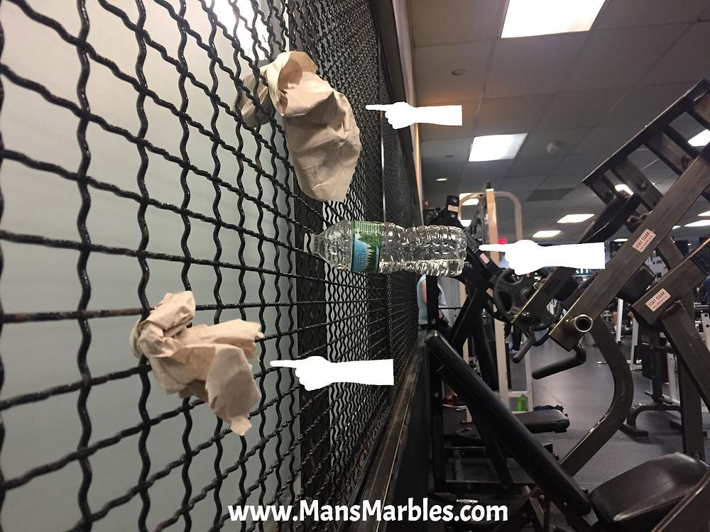 Litterbugs at a Bronx Gym