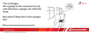 Train etiquette parody poster, what if they dont have ginger ale for tims food