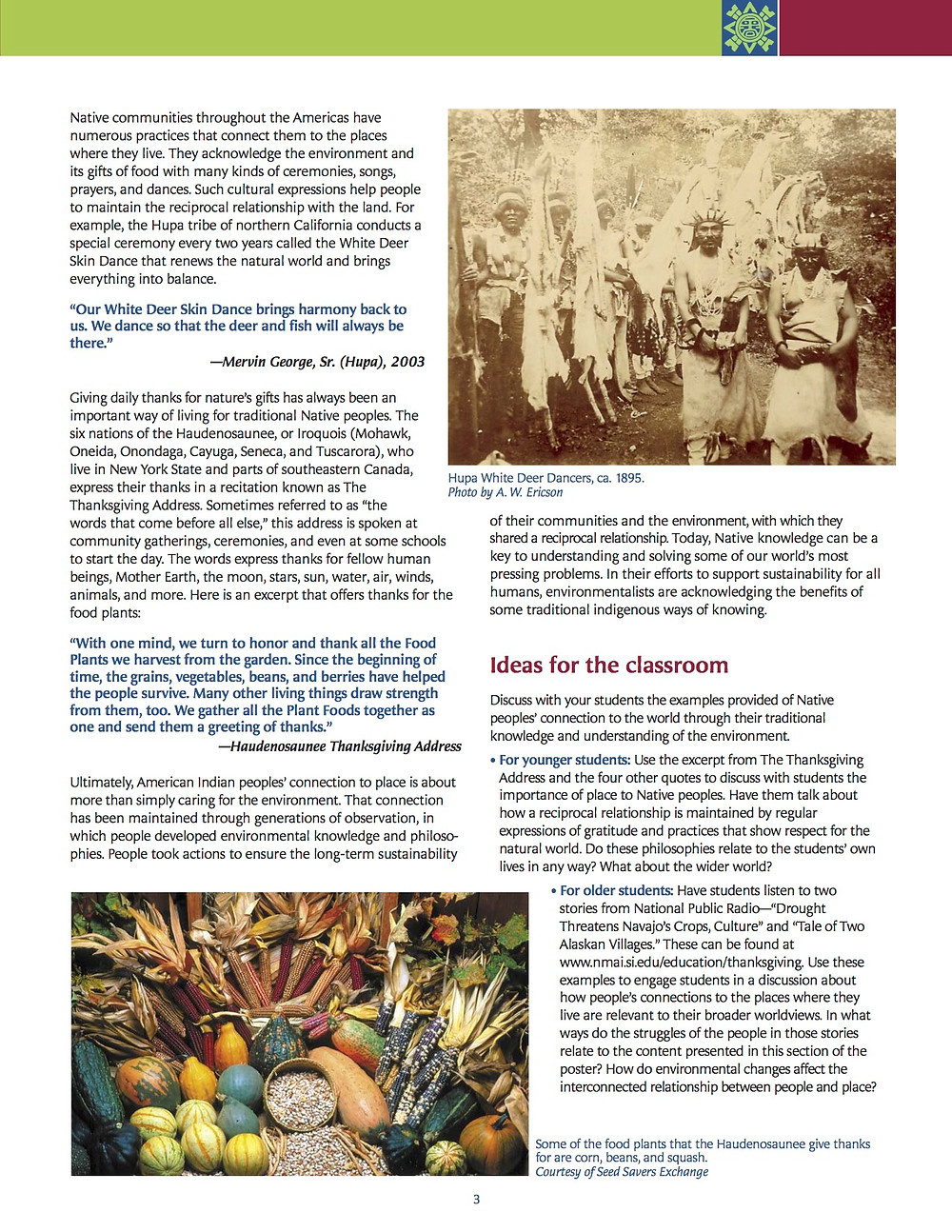 American Indian Perspectives on Thanksgiving poster page 4