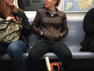A Woman Manspreading is Unladylike