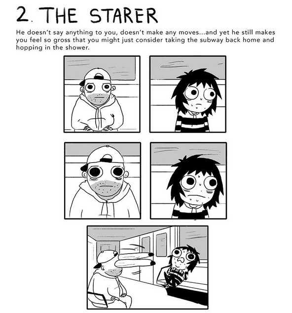 The 7 Weirdos You'll See on Public Transportation, #2 The Starer
