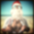 Santa catching some rays on a beach, Holidays Etiquette Poll Category