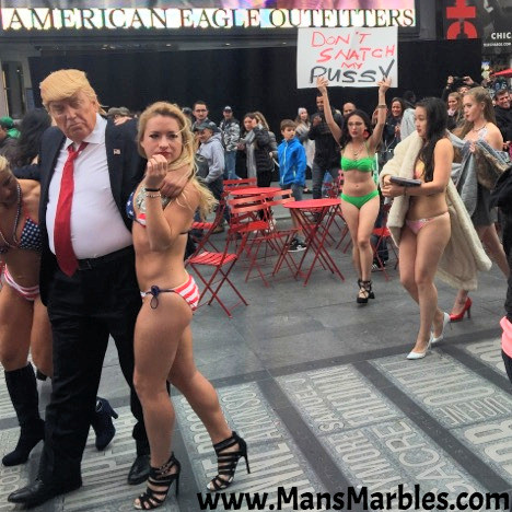Donald Trump grabbing snatch pussy in Times Square #2