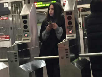 Subway Turnstiles Are a Great Place For Geniuses to Hang Out and Text