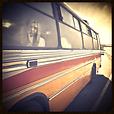 Lonely woman riding a bus, Public Transit Etiquette Poll Category