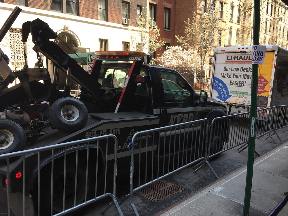 Drivers getting towed because they felt the no parking signs and police barricades didn't apply to them #4